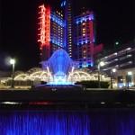 L'entrée du casino de Niagara, entièrement illuminée