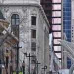 Vieux bâtiments dans la rue piétonne de Calgary