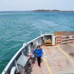 Sur le ferry entre Kingston et l'Île de Wolfe