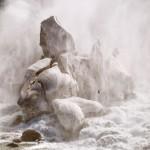 Stalagmite de glace sur les chutes américaines
