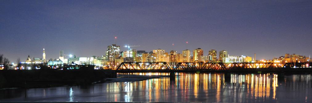 Ottawa skyline by night