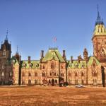 L'aile ouest du Parlement à Ottawa