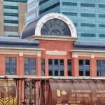 Les trains de céréales passent dans le downtown Calgary