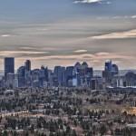 Vue sur le centre-ville de Calgary (depuis Nose Hill Parc)