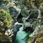 Le Canyon des chutes Athabaska et ses eaux turquoises