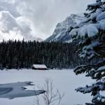 Le chalet du loueur de canoés sur le lac Louise