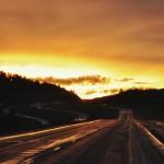 Coucher de soleil après la pluie sur la highway 90 (vers Belgrade - Montana)