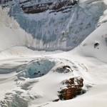 Un détail du glacier Columbia, dans le Columbia Icefield