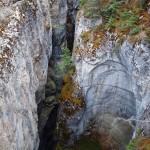 Les gorges du Canyon Maligne, creusées par les eaux des lacs glaciaires