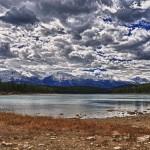 Ciel menaçant au-dessus du lac Patricia (rendu HDR) - Jasper