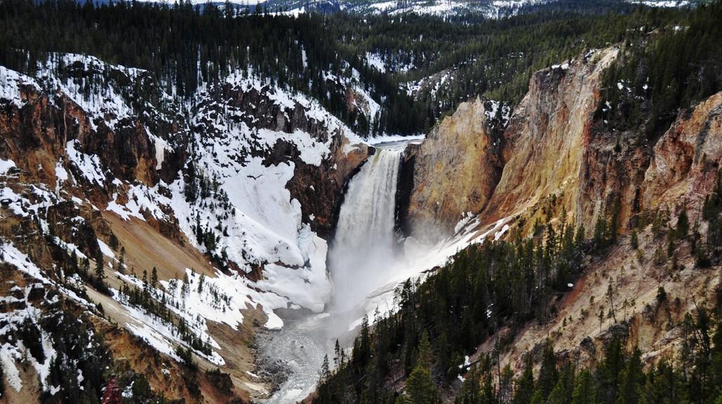 Les Lower Falls et leur 94m de haut depuis Grand View Point