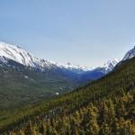 La fin de la chaîne des monts Rundle à Banff