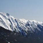 Panoramique des monts Rundle depuis le haut de Sulfur Mountain