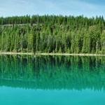 Vue panoramique du plus grand des 5 lacs