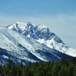 Un sommet enneigé dans les environs de Jasper - Alberta