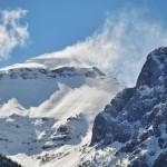 La neige soufflée par le vent sur les Rocheuses...