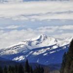 Glacier sur le trajet Jasper - Dome Creek (Colombie-Britannique)