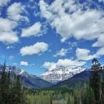 Le plus haut sommet des Rocheuses : le Mont Robson, quasi dégagé (apparemment c'est rare !)