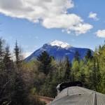 Derniers kilomètres en train avant Dome Creek, Colombie-Britannique