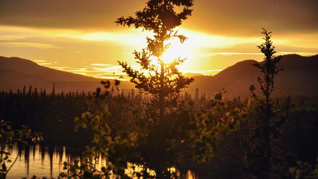 Coucher de soleil Yukonnais