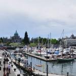 Vue panoramique du port de Victoria - Colombie-Britannique