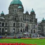Parterre de fleurs devant le parlement de Victoria - Colombie-Britannique