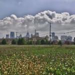 Downtown Detroit vu depuis le quartier de Brush Park