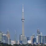 Financial District et CN Tower vus depuis Humber Bay Park East