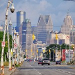 Downtown vu depuis Michigan Avenue - Detroit