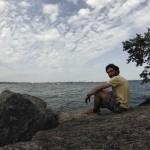 Moi à Humber Bay Park, sur les rives du lac Ontario