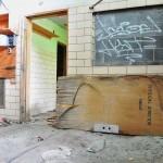 Salle de classe désaffectée dans le quartier de Brush Park - Midtown Detroit