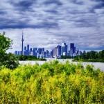 Vue du downtown Toronto depuis Thompson Park