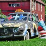 Ancien taxi et Père Noël - Heidelberg Project, Detroit