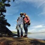 Selfie au bord du Charleston Lake - Canada