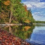 L'automne arrive sur les rives du Charleston Lake